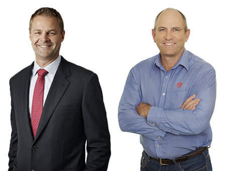 NRW Managing Director CEO, Jules Pemberton and Golding Group CEO, Geoff Caton