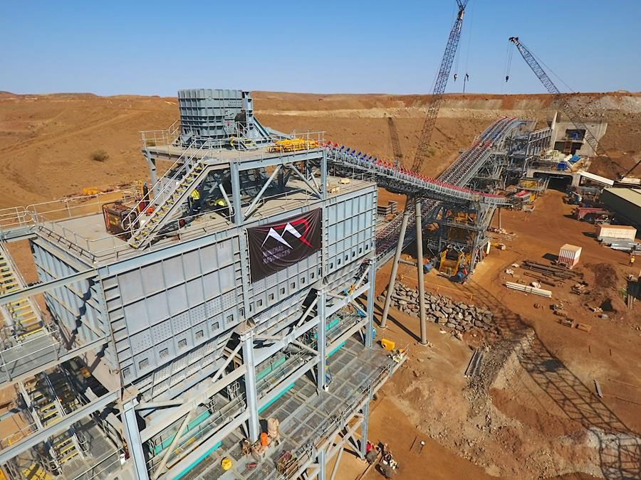 Photograph: Construction underway at Mineral Resources' Wodgina lithium project in the Pilbara